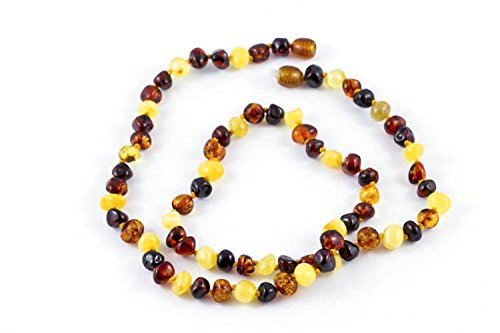 Healing Hazel 100% Balticamber Adult Necklace, Multi Polished