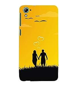 Couple Love Dreams 3D Hard Polycarbonate Designer Back Case Cover for HTC Desire 826::HTC Desire 826 Dual Sim::HTC Desire 826 DS (GSM + CDMA)