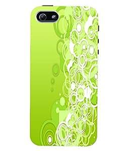 Fuson 3D Printed Colour ring Pattern Designer Back Case Cover for Apple iPhone 5S - D846