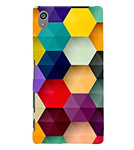 Multicolour Bright Pattern 3D Hard Polycarbonate Designer Back Case Cover for Sony Xperia Z5 Premium (5.5 Inches) :: Sony Xperia Z5 Premium Dual