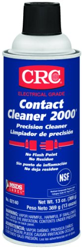 Crc Contact Cleaner 2000 Liquid Precision Cleaner, 13 Oz Aerosol Can, Clear