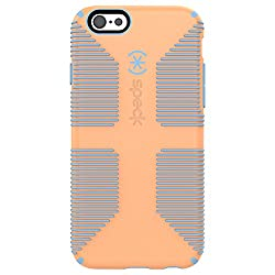 Speck Products CandyShell Grip for iPhone 6/6s - Retail Packaging - Cantaloupe Orange/Periwinkle Blue
