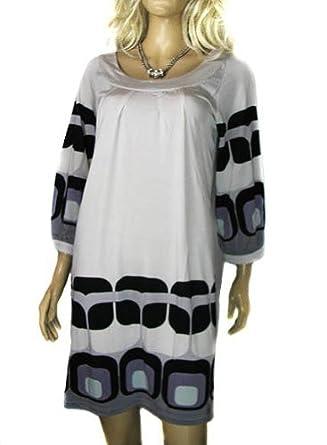 Ladies Pale Grey Sara Kelly Gorgeous long tunic top tshirt or dress in women's Sizes 10 through to plus size 20 (size 10 eur 36)