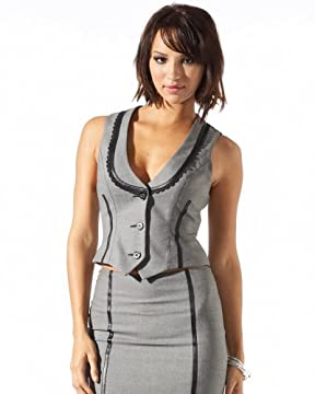 bebe.com : Piped Birdseye Lace Trimmed Vest :  piped birdseye lace trimmed vest com lace piped