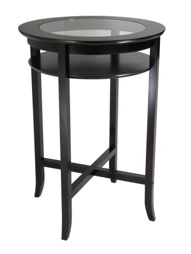 Winsome Wood Beechwood and Glass Pub Table