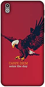 The Racoon Lean Carpe Diem hard plastic printed back case / cover for HTC Desire 816G