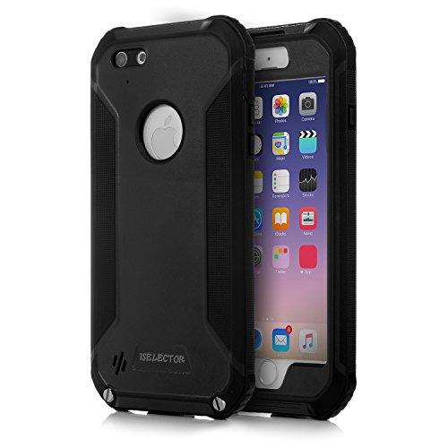 ISELECTOR iPhone 6/6s Plus用 防水ケース 耐衝撃 5.5インチ ブラック