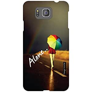 Design Worlds Samsung Galaxy Alpha G850 Back Cover - Alone Designer Case and Covers