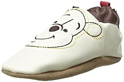 Robeez Disney Winnie The Pooh Crib Shoe (Infant), Cream, 6-12 Months M US Infant