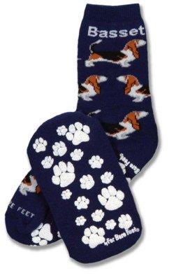 NEW! Pair of Basset Hound Slipper Socks - Great Gift for Dog Lover
