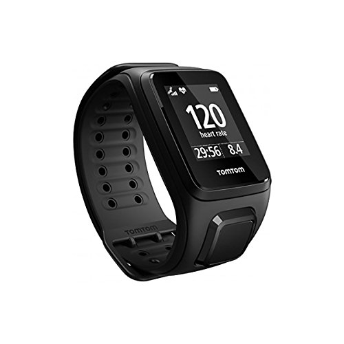 TomTom Spark Cardio + Music GPS Fitness Watch Black Small