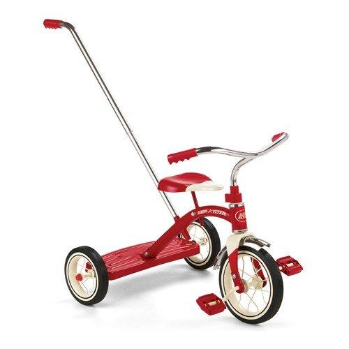 """ラジオフライヤー#34T/RadioFlyer Classic Red 10"""" Tricycle w / Push Handle"""