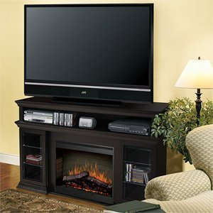 "Dimplex Smp-155G-E-St Bennett Media Console With 26"" Self-Trimming Electric Fire, Espresso"