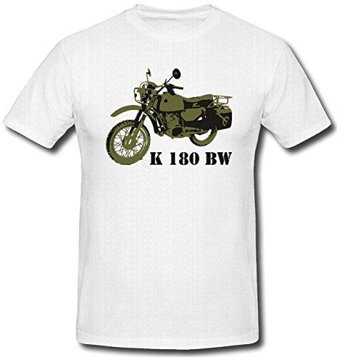 Krad Motorrad Bundeswehr Militär Version Motor Kradmelder Kompanie Helm Anzug 125ccm Zweirad - T Shirt Herren weiß #424