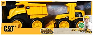 Toystate Caterpillar Construction 8'' Tough Tracks 2-Pack: Dump Truck And Wheel Loader