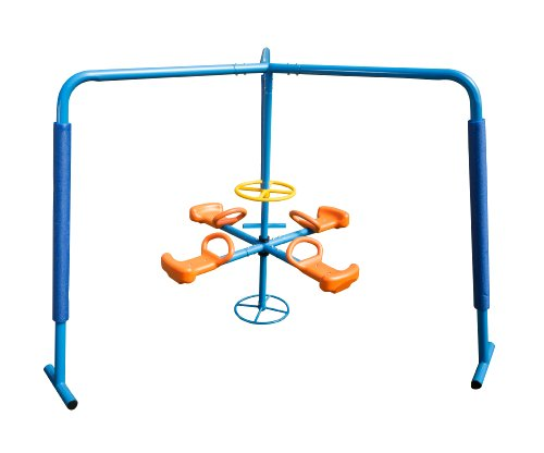 Ironkids Four Station Fun Filled Merry Go Round back-816149