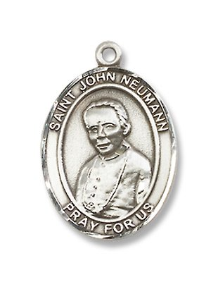 St. John Neumann Sterling Silver Medal with 18