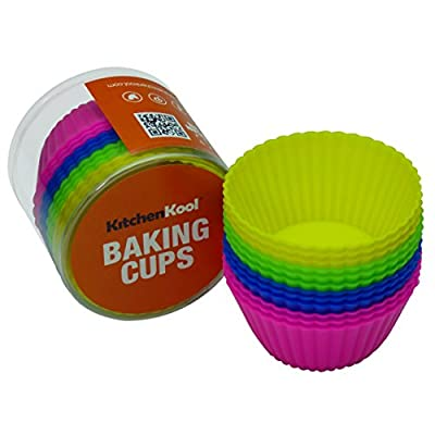 KitchenKool Silicone Cupcake Baking Muffin Cups Liners Molds - set of 12