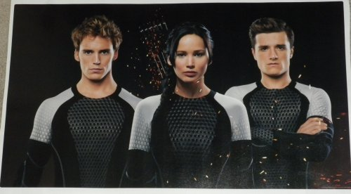 "Katniss Peeta Finnick FATHEAD Hunger Games Catching Fire Official Vinyl Wall Graphic 25""x14"""