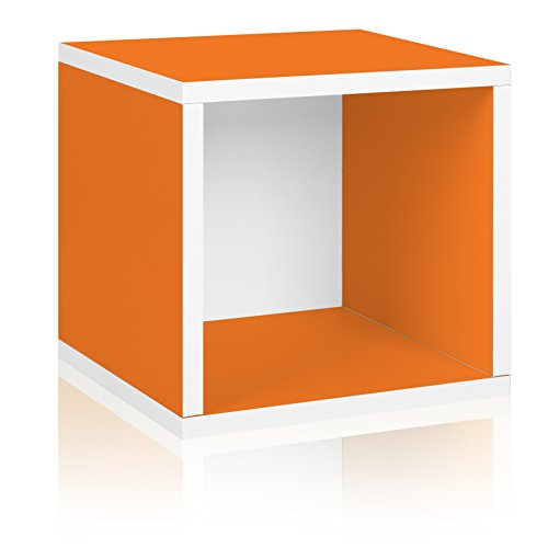 Way Basics Eco Stackable Storage Cube and Cubby Organizer, Orange (made from sustainable non-toxic zBoard paperboard) (Lp Record Storage Rack compare prices)