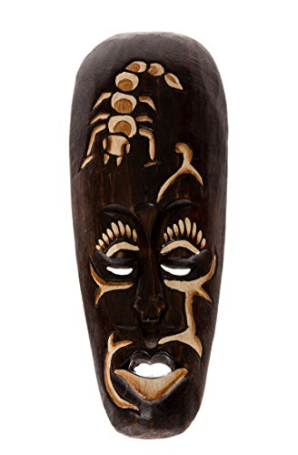 30 Cm sTATUE tRIBAL wOODEN mASK aFRICAN sculpture masque en bois décoratif hM3000004 scorpion figurine murale