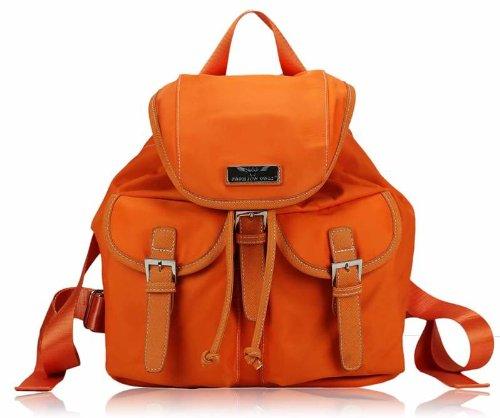 Ladies Womens Backpack Satchel Bag Rucksack Shoulder Travel Handbag Orange