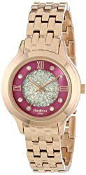 Armitron Women's 75/5174PMRG Swarovski Crystal Accented Rose Gold-Tone Bracelet Watch