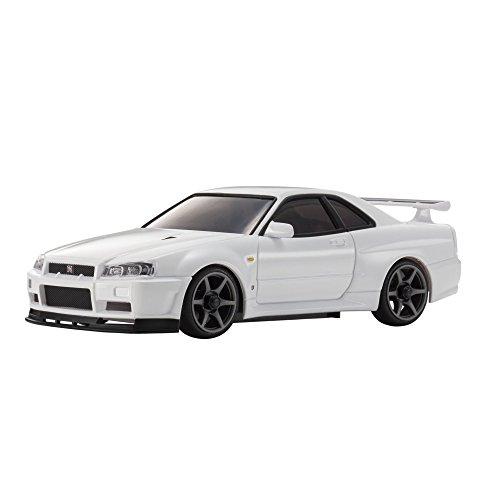 Kyosho Mini-Z MA-020S Sport Nissan Skyline GTR R34 V-Spec II Vehicle, White (Nissan Z Toy Car compare prices)