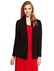 M&S Collection Open Front Textured Jacket