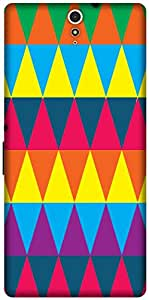 The Racoon Lean printed designer hard back mobile phone case cover for Sony Xperia C5 Ultra. (Triangles)