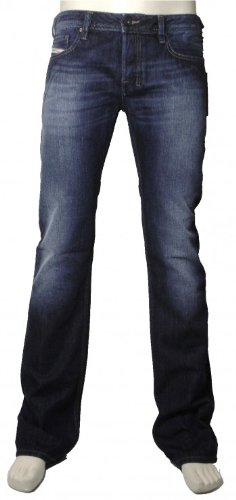 Diesel Uomo Zatiny 8XR Bootcut Jeans, Blu, 34W x 32L