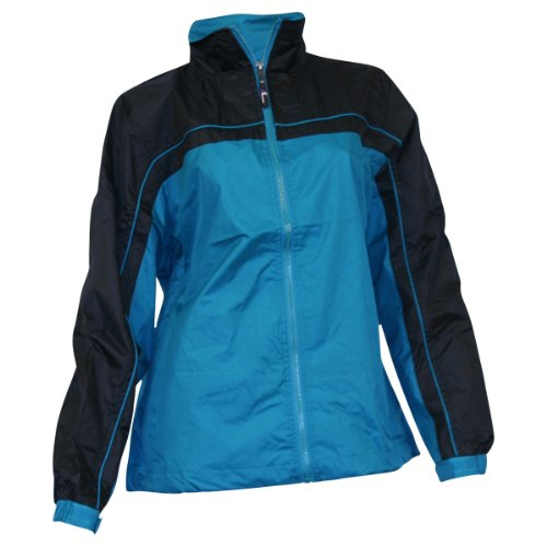 Ladies Smart Jacket / Windbreaker (2XL, Teal / Black)