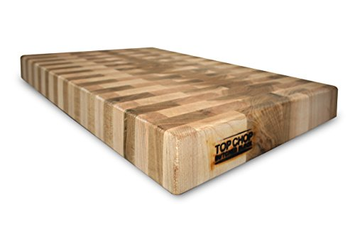 Top Chop Butcher Block PGM-24182 Premium Reversible End Grain Character Grade Cutting Board, Maple (Butcher Block Pattern compare prices)