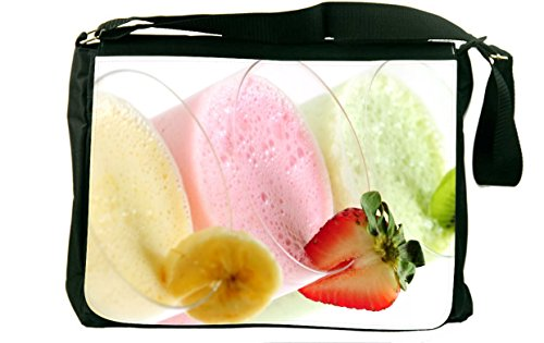 Rikki Knighttm Summer Fruit Smoothies Messenger Bag - - Shoulder Bag - School Bag For School Or Work - With Matching Coin Purse front-606430