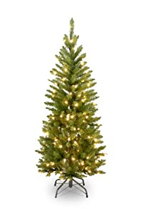 #!Cheap National Tree 4-1/2-Foot Prelit Artificial Kingswood Fir Pencil Tree, 150 Clear Lights