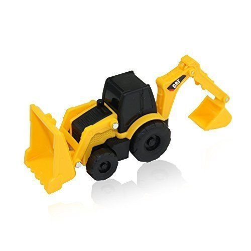 Caterpillar CAT Construction Mini Machines - Front Loader with Backhoe (Toystate Mini Machines compare prices)