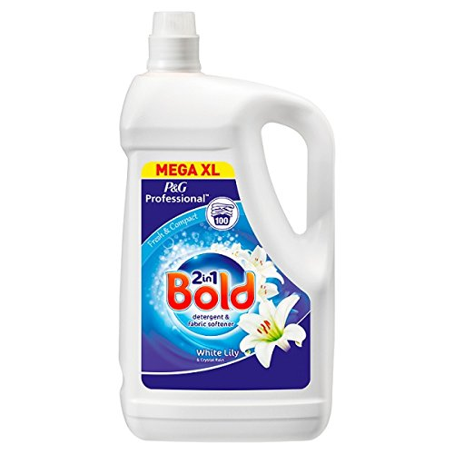 Bold 2in1 Professional Crystal Rain & White Lily Detergent & Fabric Softener 100sc 5L (Pack of 3 x 5ltr)