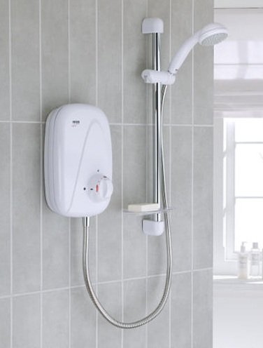 Mira Vigour M Manual Power Shower - White/Chrome