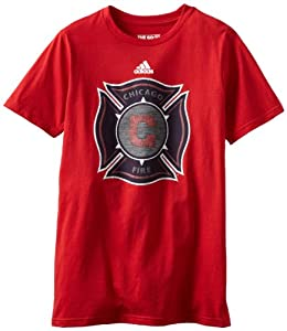 MLS Chicago Fire Primary Logo T-Shirt, Small, Red