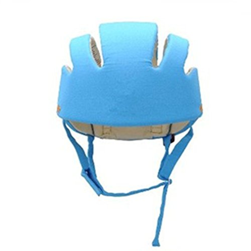 Qiorange Adjustable Baby Toddler Safety Helmet Hat Head Protection , Protection Hat for Biking Walking Crawling - Packed in Gift Box (Blue) (Baby Protection Helmet compare prices)