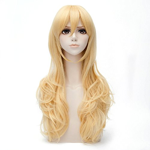 Probeauty Anime Your Lie in April Kaori Miyazono Long Blonde Wavy Cosplay Wigs