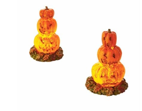 Department 56 Halloween Village Lit Stacked Jack-O-Lanterns Lights