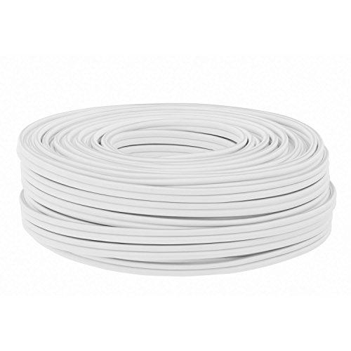 DCSk-25m-Kupfer-Lautsprecher-Boxen-Kabel-2x15mm-Ring-weiss-reines-Vollkupfer