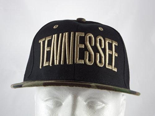 New Tennessee Black Camouflage Embroidered Adjustable Snapback Baseball Hip Hop Flat Bill Hat Cap 2017 new fashion brand breathable v ring black snapback caps strapback baseball cap bboy hip hop hats for men women fitted hat
