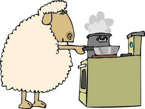 Animal Wall Decals Sheep For Dinner - 24 Inches X 18 Inches - Peel And Stick Removable Graphic