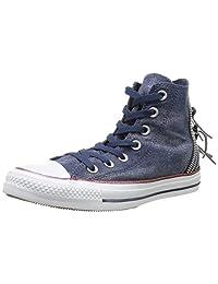 Converse Women's Chuck Taylor All Star Tri Zip, NAVY/DENIM BLUE/WHITE