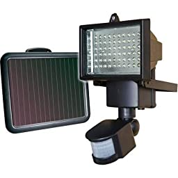 SunForce 60 LED Ultra Bright Solar Motion Light with ABS plastic and Aluminum Housing
