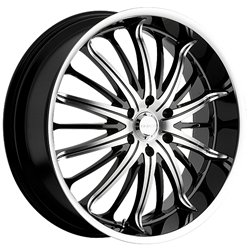 Akuza Belle 20×8.5 Machined Black Wheel / Rim 5×115 with a 35mm Offset and a 74.10 Hub Bore. Partnumber 761285541+35GBMT