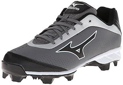 Mizuno Usa Mens 9 Spike Blaze Elite 5 GY BK Baseball Shoe, Grey/Black, 6 D US