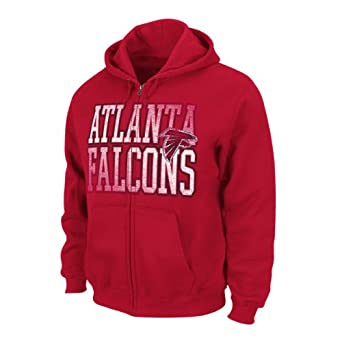 NFL Atlanta Falcons Touchback V Full Zip Hooded Sweatshirt, Bright Cardinal, X-Large by VF LSG